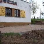 Bau des Biergarten 2008